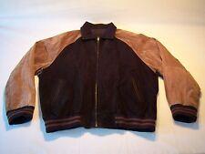 Vintage Serge Platini Casual Full Zip Suede Jacket Men's Size XL