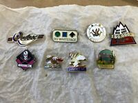 SKI PIN LOT OF 8 Pins. Mostly Western US - Quebec, Stratton, Shawnee, Davos