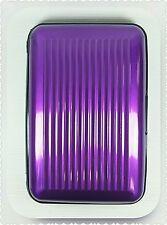 Crédito de seguridad Púrpura de Aluminio Soporte de tarjeta de débito cartera protección elegante