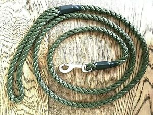 HANDMADE DOG LEAD WITH *TRIGGER CLIP * 8 mm x 145 cm (strong 3 strand rope) NEW