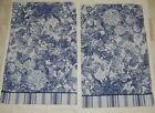 Vtg+Pillowcases+Perry+Ellis++Martex+Blue+White+Floral+50%2F50+Blend+Percale+1984