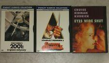 Stanley Kubrick Dvd Lot - A Clockwork Orange, 2001 Space Odyssey, Eyes Wide Shut