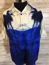 Men's Guess Jeans NWT Hawaiian Floral 100%Rayon Shirt Medium New Palm Tree N12