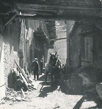 LANSLEBOURG c. 1938 - Hommes Attelage Cheval  Rue du Village Savoie - Div 12801