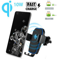 Smart FAST Qi Wireless Charger Car Holder Stand For iPhone X/XS/X/8 Samsung S9