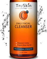 TruSkin BEST Vitamin C Daily Facial Cleanser - Restorative Anti-Aging Face Wash