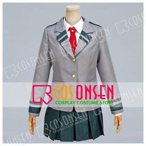 My Hero Academia Uraraka Ochaco Girl School Uniform Cosplay Costume Halloween