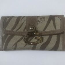 66852414d6e GUESS G Zebra Print Brown Tan Trifold Wallet with Coin Pouch   Card Slots