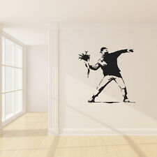 Protest With Flowers - Banksy Wall Decal Stickers
