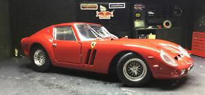Ferrari 250 GTO Red 1:18 Diecast Model Car Hot Wheels Flawed