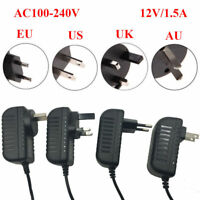 New AC 100-240V To DC 12V 1.5A Adapter US/EU/UK/AU Plug Power Supply Charger