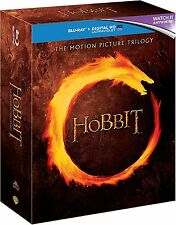 THE HOBBIT Motion Picture Trilogy BLU-RAY Set BRAND NEW Free Ship
