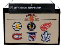 Original Six 1942-1967 NHL Wool Hanging 22x14 inch Heritage Banner ~ Original 6