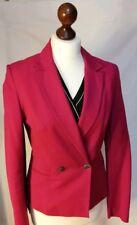 Karen Millen Double Breasted Blazer/Jacket Pink  Waist-Emphasis Tailored Size 10
