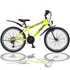 """26 Zoll Fahrrad Shimano 21Gang 26"""" Mountainbike mit Licht und Gabelfederung Gelb"""