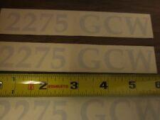Bennington Pontoon decal 2275 GCW (002413)
