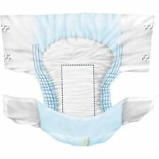 Large Adult Disposable Briefs Diapers Regular Absorbency Cloth-like, Case of 80!