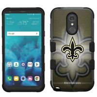 for LG Stylo 4 Armor Impact Hybrid Cover Case New Orleans Saints #BG