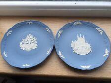 Wedgwood Christmas Plates 1991/1989- Blue Jasperware