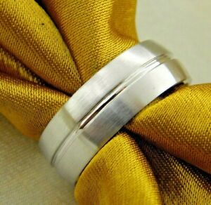 Triton Cobalt Band Ring Tungsten Comfort Fit  Men's wedding Band SZ 10 #C