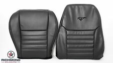 99-04 Ford Mustang GT -Driver Side Bottom & Lean Back Leather Seat Covers BLACK