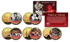 MUHAMMAD ALI * Life & Times * 24K Gold Plated US Statehood Quarter 5-Coin Set