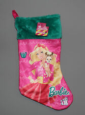 New with Tags Barbie Doll Christmas Stocking Pink & Teal W/Puppy My Fab Stocking