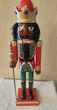 African American Christmas  Nutcracker Ethnic Black Royal King Red Green Gold