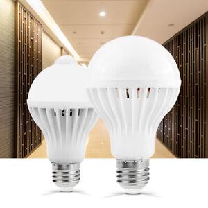 E27 Led Bulb Pir Infrared Motion Detector Sensor Lights Energy Saving Wall Lamp
