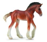 CollectA Animal Figurines - Clydesdale Foal -  Bay #88625
