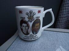 1994 Prince Charles as Prince of Wales 25th Anniversary China Mug Only 100 made