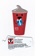 WENDY'S Collectible 2018 Keychain Card for One Jr. Frosty - Expired 12/31/18