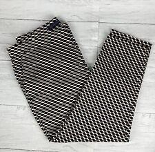 NWT M&S Mid Rise Slim 7/8 Trousers UK 18 Regular Geometric Cotton Stretch Taper