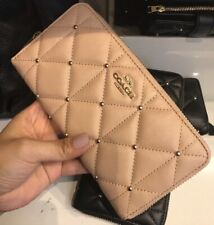 New Coach F15763 Quilted Leather Accordion Zip Wallet  $295 Beechwood