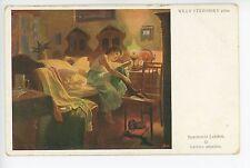 Art Nouveau Artist-Signed Willy Stieborsky -Jewish Painter VIENNA- Kunst Wien 11