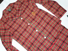 new POLO Ralph Lauren womens Pajama set Red Plaid flannel pajamas size Medium M