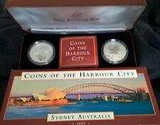 1997 TEN DOLLAR SILVER COINS -*COINS OF THE HARBOUR CITY* - 2 COINS SET