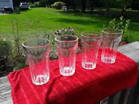 Vintage Diner / Restaurant Clear Glass Juice Glasses. 4 pcs.Dinerware