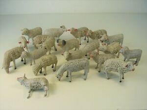 Antike Grulich - Schafe / Erzgebirge Krippen Figuren vor 1945