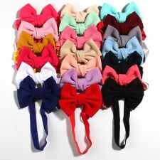 "20PCS 11cm 4.3"" Fashion Seersucker Waffle Hair Bows With Headbands Accessories"