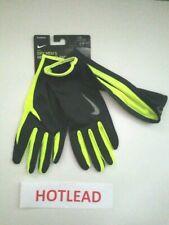 Nike Dri-Fit Men's Running Beanie Glove Set Black/Volt L/Xl New