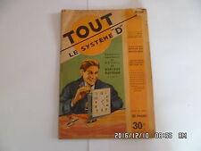 SYSTEME D N°61 01/1951 REVEIL EN HORLOGE ELECTRIQUE ABRI VOLANT BASSE COUR   D38