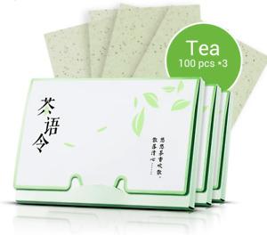 Tissue Paper Green Tea Oil Absorbing Cleanser Facial Face Acne Blotting 100Pcs*3