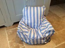 Handmade Children's Beanbag Chair Cover, Blue Stripe Design