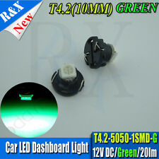 2 x GREEN T4.2 Neo Wedge 1-1210 SMD SMT LED Cluster Instrument Dash Climate Bulb