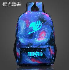 New Fashion Anime Cartoon FAIRY TAIL Backpack Schoolbag Luminous Travel Rucksack