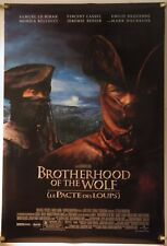 BROTHERHOOD OF THE WOLF (2001)VINCENT CASSEL ORIGINAL 1 SHEET POSTER ROLLED