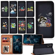 Printed Smart Cover Phone Case Fit Huawei Honor 8A 8S 9X Pro 10/20 Lite NOVA 5T