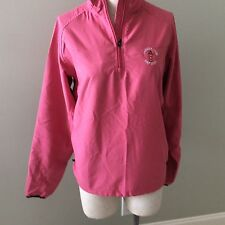 Adidas Climaproof Wind Harbour Town Golf Links Pullover Jacket Women's S/P Pink