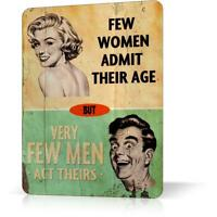 METAL TIN SIGN FEW WOMEN MEN HUMOR Poster Wall Retro Vintage Decor Home Bar Pub